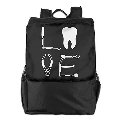 MZ-HY Love Tooth Dentist Dental Tools Women Men Laptop Travel Backpack Cool Book Bags Best Backpacks for School Hiking Travel