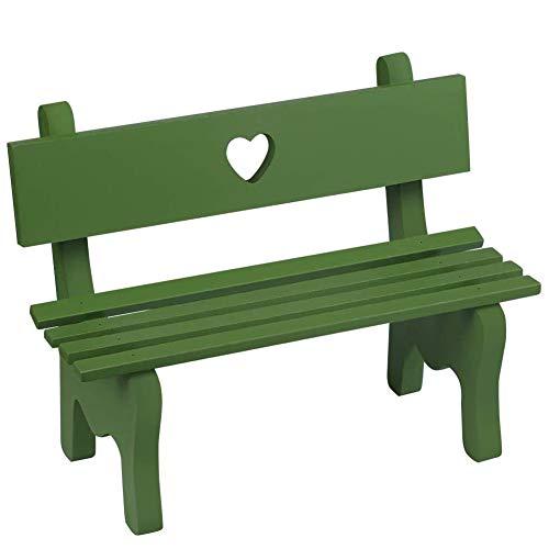 LLMZ Panca da Giardino in Legno in Miniatura 1 Pezzi Mini Panchina da Giardino Paesaggio Mini Resina Banco Bonsai Decorazione (Verde)