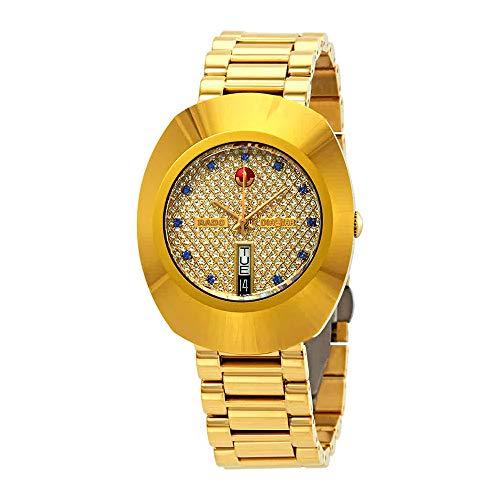 Rado R12413314 - Reloj de Pulsera para Hombre, Color Amarillo y Dorado