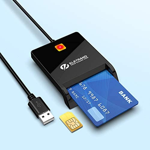 Eletrand CAC Card Reader Military USB Smart Card Reader DOD Military USB Common Access CAC Memory product image