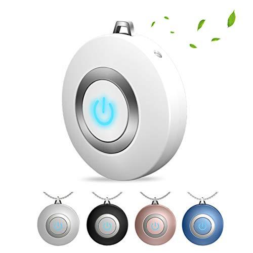 Mini Draagbare USB-Luchtfilter Negatieve Ionisatoren, USB Oplaadbare Draagbare Luchtreiniger Met Ketting, Geen Straling Laag Geluidsniveau,White