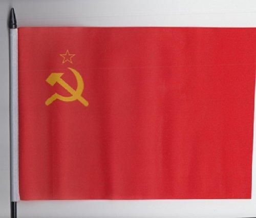 Hammer und Sichel, Vliestapete, Russland, Sowjetunion, Handbrause, Fahne 23 cm x 15 cm