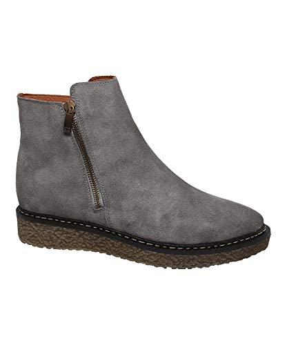 Eric Michael Hampton Boot Grey Suede Low Platform Wedge Bootie (36, Grey)