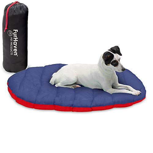 Furhaven Pet Bed for Dogs and Cats - Trail Pup Outdoor Camping Dog Bed Pillow Mat Cushion with Stuff...
