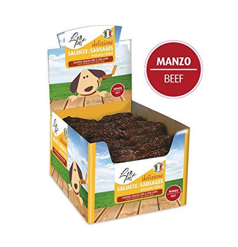 Leopet Snack Salsicce essiccate Manzo Premio Cane 200pz