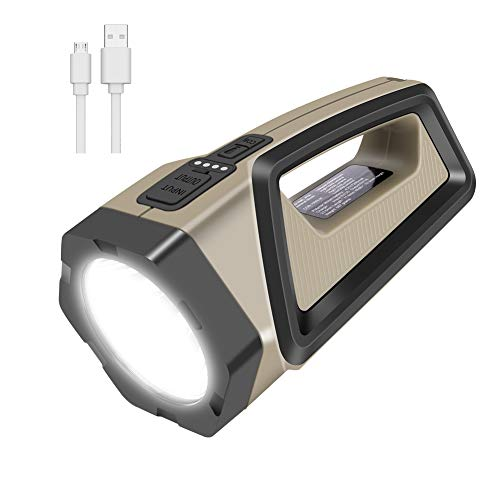 Coquimbo Torcia LED Ricaricabile, USB Impermeabile Torcia Lanterna, 2500LM 7200mAh Luce LED Portatile con 8 modalità for Pesca, Trekking, Corridoio, Garage e Emergenze
