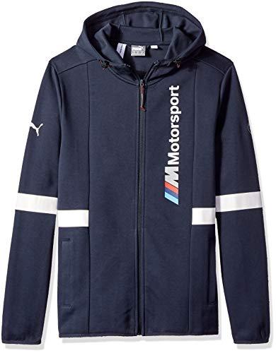 PUMA Sudadera para hombre BMW Motorsport con capucha, talla S, color azul