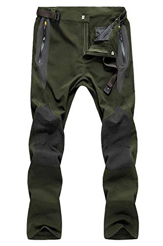 MAGCOMSEN Men's Winter Snow Pants Water Resistant 4 Zip Pockets Lightweight and Thick Fleece Lined Ski Work Hiking Pants