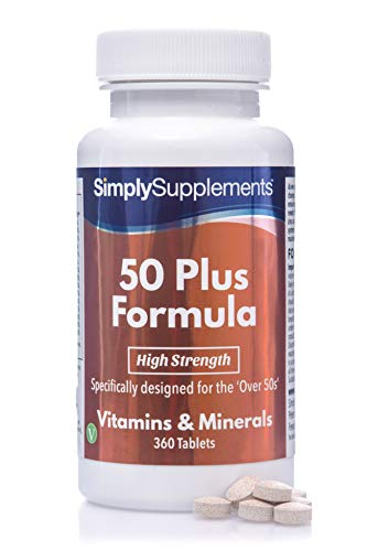 A to Z Multivitamins for Individuals Aged 50 Plus | Includes 15 Different Vitamins & Minerals to Support Energy Levels, Immune Function, Bone Health & More | 360 Easy to Swallow Tablets