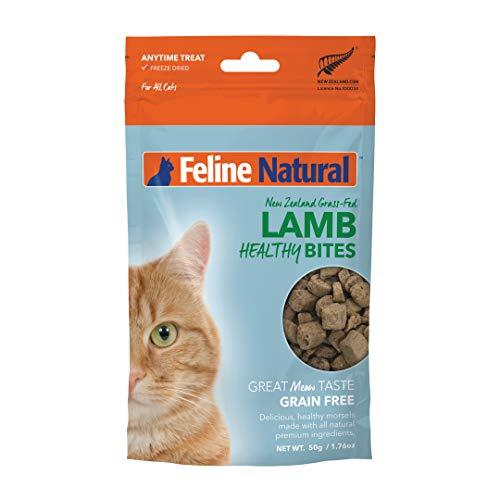 Feline Natural Grain-Free Freeze Dried Cat Treats, Lamb 1.76oz