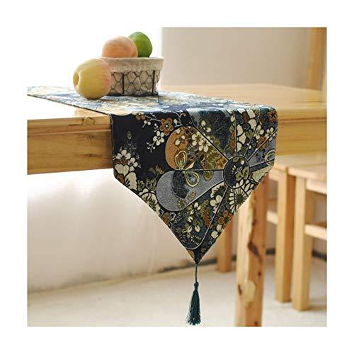 Rubyia Camino D Mesa Elegante, Abanico Vintage Table Runner Decoración de Mesa...