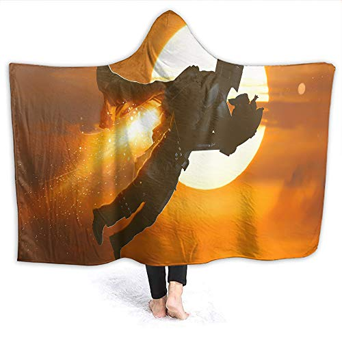 Star Wars Home Hooded Blanket Baby Yo-da The Mandalorian Lightweight Wearable Throw Kids Size 60 x 50 Inch