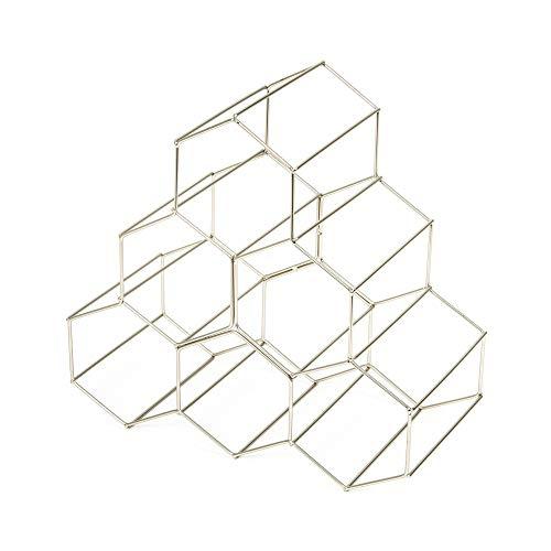 Compactor Kitchen ran8662Flaschenregal Circolare, Metall, Silber satiniert, 28x 28x 14,5cm