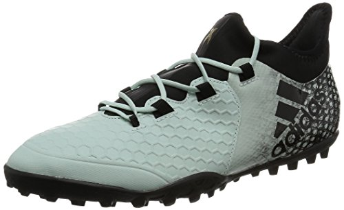 adidas X 16.2 Cage, Botas de fútbol para Hombre, Verde (Vapour Green F16/core Black/Core Black), 45 1/3 EU