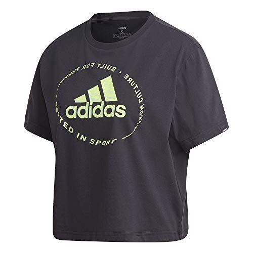 Adidas W Circled Graphic Tee Maglietta a Maniche Corte Donna, Nero (Black), XS