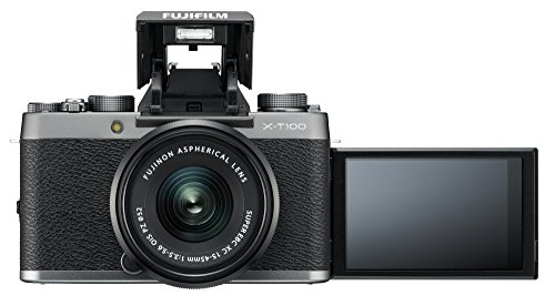 Fujifilm X-T100 Mirrorless Digital Camera w/XC15-45mmF3.5-5.6 OIS PZ Lens - Dark...