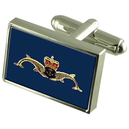 U-Boot Service Badge Manschettenknöpfe Crystal Krawattenklammer Bar Box Set eingraviert