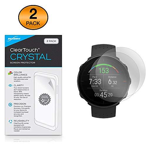 Protetor de tela Polar Vantage M, BoxWave® [Cristal ClearTouch (pacote com 2)] Película de filme HD – Protege contra arranhões para Vantagem Polar M