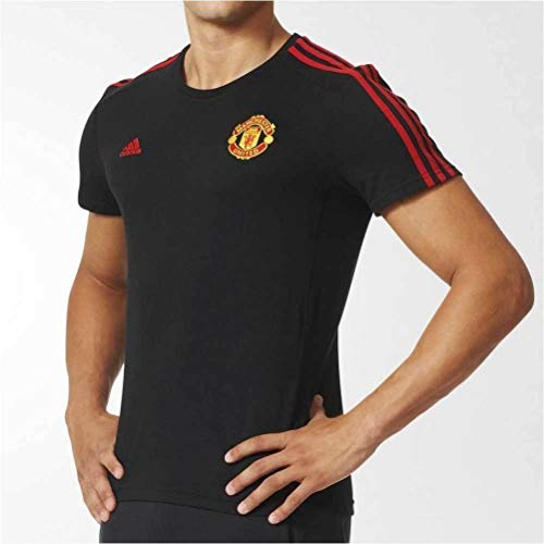 2015-2016 Man Utd Adidas Core 3S Tee (Black)