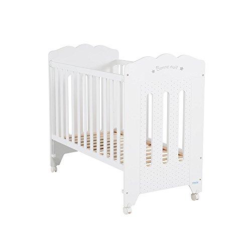 Micuna Bonne Nuit - Cuna de 120 x 60 cm, color blanco