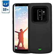 Mbuynow Akku Hülle für Galaxy S9 Plus 5200 mAh, Handyhülle Ultra dünnes Akku Case Hülle Lithium-Polymer Battery Akkucase Power Bank Cover für Galaxy S9 Plus