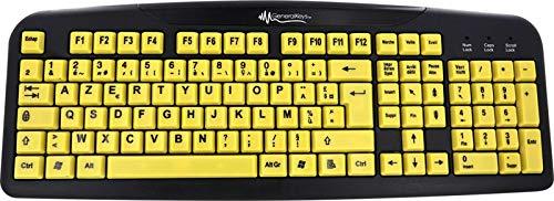 GeneralKeys Tastatur Große Tasten: Komfort-Tastatur mit kontraststarken Großschrift-Tasten (Senioren Tastatur)