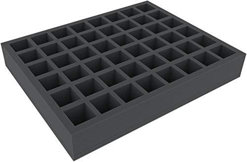 FS050I048BO 50 mm Full-Size Schaumstoffeinlage mit 48 quadratischen Fächer und angeklebtem Boden