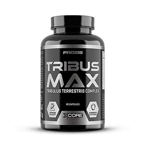 Xcore Tribus Max 98% Saponins 60 Tabs - Suplemento Potenciador de la Testosterona Natural a Base de Tribulus Terrestris - Aumenta el Crecimiento Muscular y el Rendimiento Sexual - 30 Dosis