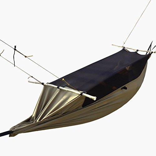 Hamac Hamac Outdoor hamac de camping hamac swing occasionnel camping hamac moustiquaire nacelle hamac brun portable polyester (260 * 90cm)