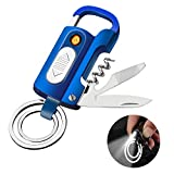 Auratrio 7 in 1 elektrisches Feuerzeug USB aufladbar, flammenlos, Winddicht, mit Taschenlampe,...