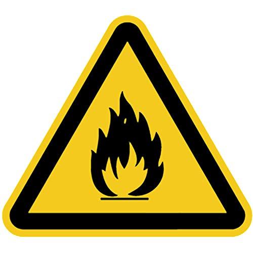 Schild Warnschild Warnung vor feuergefährlichen Stoffen 20cm sl Alu