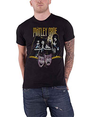Motley Crue T Shirt Theatre of Pain Vintage Band Logo Nuovo Ufficiale Uomo Size L
