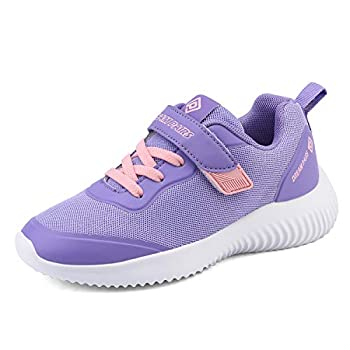 DREAM PAIRS Girls Tennis Running Shoes Athletic Sports Sneakers Purple Pink Size 13 Little Kid Contact-k