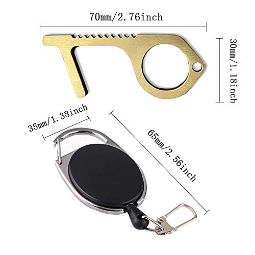 Purchase Contactless EDC Door Opener Closer Hand Tool With Fishing Zinger Retractor No Touch Elevato...