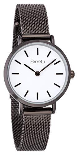Ferretti Donna | Orologio Metallizzato Stile Minimalisto e Cinturino Mesh | FT17004