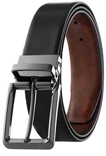 Men's Reversible Classic Dress Belt Italian Top Grain...
