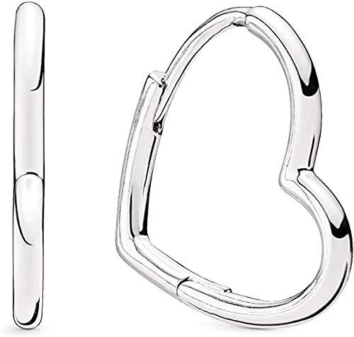 pendientes corazon plata pandora 298307C00
