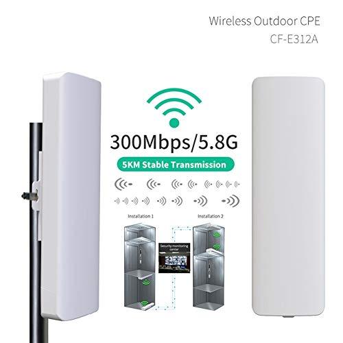 COMFAST 5km Long Range Wireless Bridge WiFi CPE 5.8G WiFi Signal Booster Amplifier WiFi Repeater Router Nano Station (Size : 2PCS)