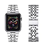 DMMG Compatible with Apple Watch Band 42mm 44mm, Stainless Steel Metal Apple Watch Band for Iwatch Series 4,Series 3,Series 2,Series 1