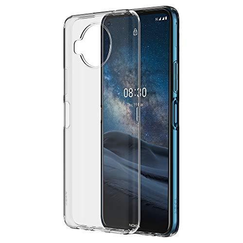 Nokia CC-183 Transparente Handyhülle für Nokia 8.3 5G, Handy-Schutzhülle, stoßfest, abger&ete erhöhte Kanten zum Schutz des Bildschirms, durchsichtig