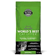 World's Best CAT LITTER 12.7KG - ECO FRIENDLY - FLUSH-ABLE ODOUR CONTROL (1X)