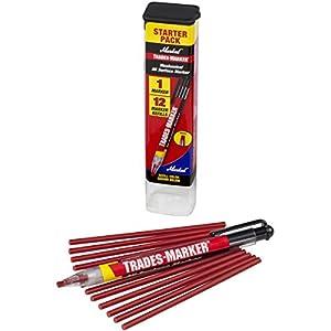 Markal 96132 Trades Marker (1 Holder, 12 Refills), Red