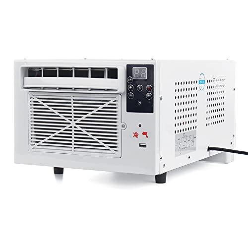1100W Mini Aire Acondicionado Portátil, Frío/Calor Temporizador de 24 horas con Control Remoto Panel de Control LED Aire Acondicionado para el Hogar y la Oficina