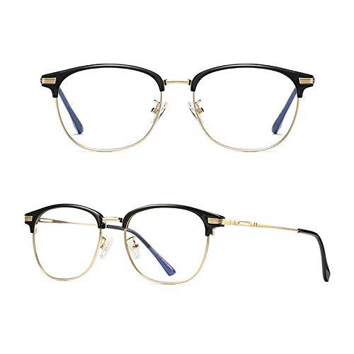 Gafas de Sol Agio de la computadora de la computadora Gafas de Lectura Azul Azul y Resplandor Bloqueo No Ampliación Gafas Metal Marco Anti Eyestrein Lente de Lentes para Hombres y Mujeres