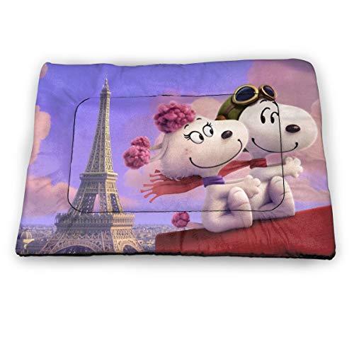 LMHBLTOP Snoopy Hundebett, weich, waschbar, rutschfest, für Hunde und Katzen