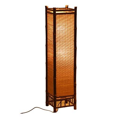 Viqie Handgemachte Bambusvorhang Stehlampe Gartenlampe Stehlampe japanischen Stil Lampe Tatami Lampe Wohnzimmer Bambuslampe (Size : M)