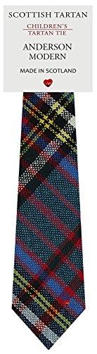I Luv Ltd Garçon Tout Cravate en Laine Tissé et Fabriqué en Ecosse à Anderson Modern Tartan