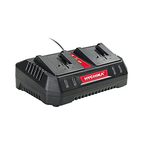 HYCHIKA Cargador Doble 18V para 4.0Ah y 2.0Ah Baterías 18V Li-Ion Original, Modelo HC1840D