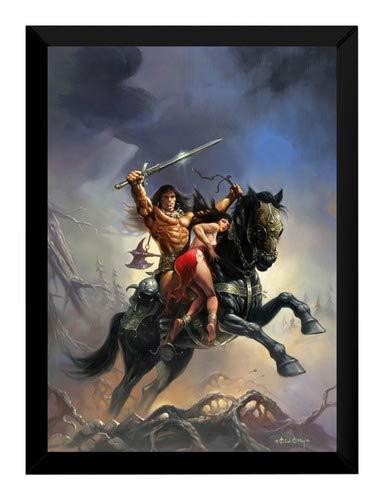 Quadro Pintura Ken Kelly Espada Selvagem De Conan 42x29cm