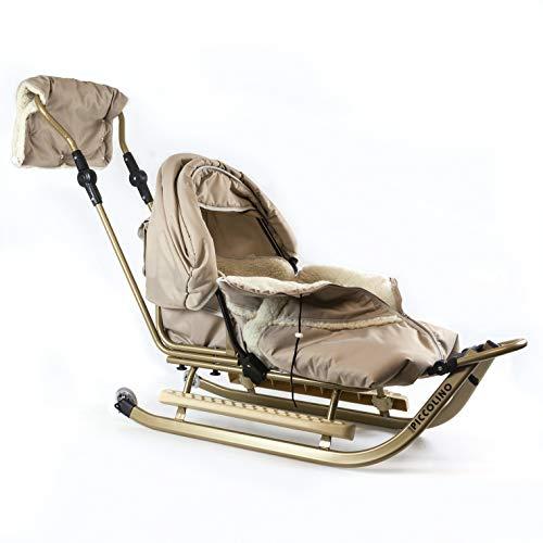Babyschlitten Piccolino Komfort (Beige) (+ Räder)